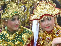 Two Indonesian girls  Stock Photo