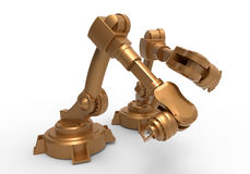 Two industrial robots Stock Photography