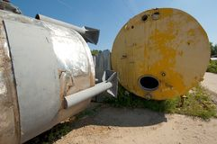 Two industrial tank stock image