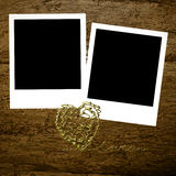Two instant photo frames Valentines day Stock Photo