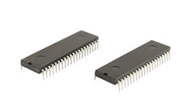 Two integrated circuits Royalty Free Stock Images