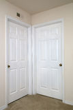 Two interior doors closed Stock Images