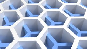 Two intersecting honeycomb patterns with different height and co Royalty Free Stock Photos