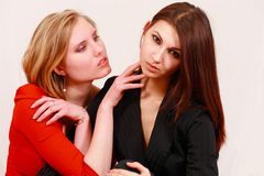 Two intimate women Royalty Free Stock Images