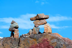 Two inukshuk Stock Images