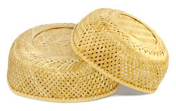 Two inverted wicker basket Royalty Free Stock Photography