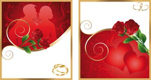 Two invitation cards for wedding. vector Stock Photography