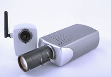 Two IP video cameras Stock Images