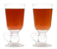 Two Irish. Glasses with tea stock photos