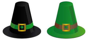 Two irish hats Royalty Free Stock Photos