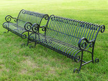 Two iron bench Royalty Free Stock Photo