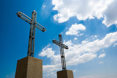 Two iron crosses Royalty Free Stock Photography