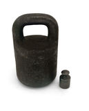 Two iron weights Royalty Free Stock Images