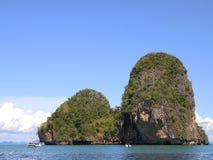 two island in sea krabi Stock Photos