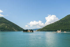 Two Islands in Bay of Kotor Montenegro Royalty Free Stock Photo
