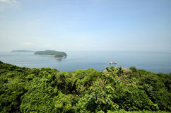 Two islands from a mountain Royalty Free Stock Image