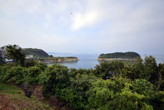 Two islands from a mountain Stock Photography