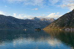 Two islets off the coast of Perast in Bay of Kotor, Montenegro Stock Image