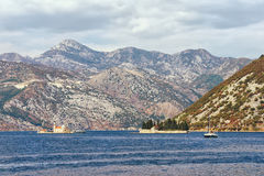 Two islets off the coast of Perast town, Montenegro Stock Photos