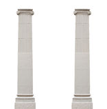 Two isolated architectural columns on a white background Royalty Free Stock Image