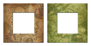Two isolated art frame with Stock Photo
