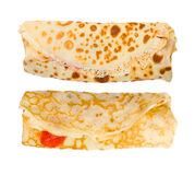 Two isolated crepes on white background Stock Photography