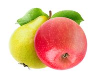 Two isolated fruits royalty free stock photo