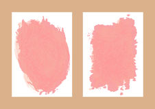 Two isolated paper background with watercolor stains. Vertical template for the design of postcards, banners, invitations. Watercolour splash. Vector vector illustration