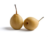 Two Isolated Pears Stock Photography