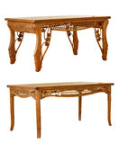 Two isolated rattan tables Stock Images