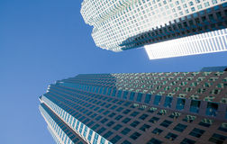 Two isolated  skyscrapers Royalty Free Stock Images