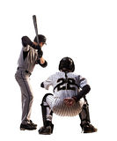 Two isolated on white professional baseball Stock Photography