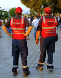 Two Italian carabinieri control the square Royalty Free Stock Photography