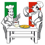 Two Italian cooks Stock Photos