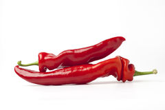 Two Italian sweet peppers Royalty Free Stock Photo