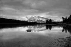 Two Jack Lake Stock Images