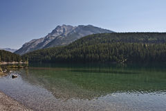 Two Jack Lake Stock Photo