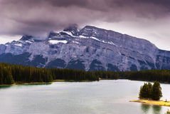 Two jack lake Stock Photography