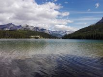 The Two Jack lake, Alberta, Canada Stock Photo