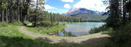 The Two Jack lake, Alberta, Canada Royalty Free Stock Photos
