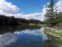 The Two Jack lake, Alberta, Canada Royalty Free Stock Photos