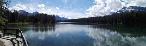 The Two Jack lake, Alberta, Canada Stock Image