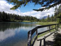 The Two Jack lake, Alberta, Canada Stock Photos