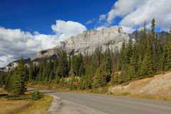 Two jack lake area in banff alberta Stock Photography