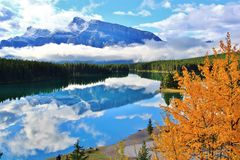 Two Jack lake, Banff, Alberta, Canada Royalty Free Stock Image