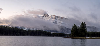 Two Jack Lake in Banff National Park Stock Image