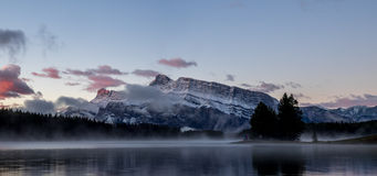 Two Jack Lake in Banff National Park Royalty Free Stock Image