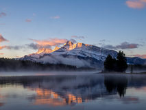 Two Jack Lake in Banff National Park Royalty Free Stock Photo