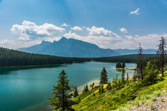 Two Jack Lake Royalty Free Stock Images
