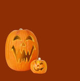 Two Jack O Lantern Pumpkins Stock Photo